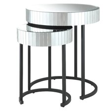 Krystal 2 Piece Nesting Table Set