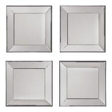 Decorative Square Wall Mirror (Set of 4)