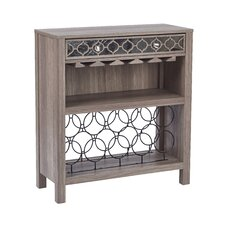 Helena Console Table with Mirror Floor Wine Bottle Rack