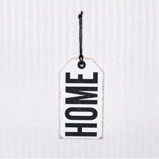 """Home"" Wood Tag Wall Decor"
