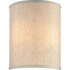 "9"" Linen Drum Wall Sconce Shade"