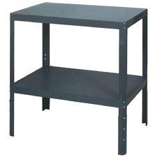 Shop Height Adjustable Steel Top Workbench