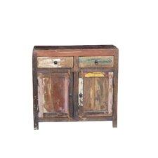 Reclaimed Wood 2-Door 2 Drawer Sideboard Cabinet