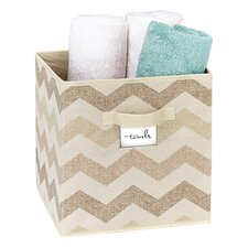 Textured Chevron Storage Cube
