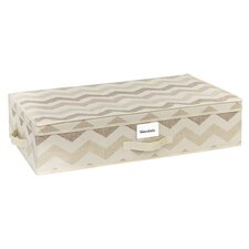 Textured Chevron Under Bed Storage Box