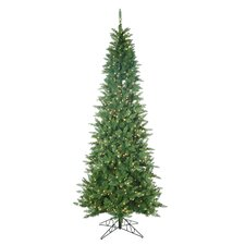 9' Green Narrow Nordic Fir Christmas Tree with 700 Clear Lights and Stand