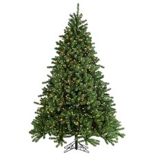 7.5' Green Grand Canyon Spruce Christmas Tree with 1200 Multi Lights with Stand