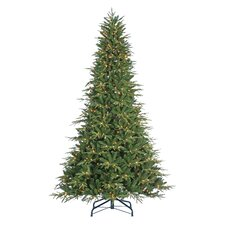9' Green Fir Artificial Christmas Tree with 1000 Incandescent Clear Lights