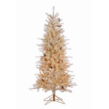 6' Buttercream Artificial Christmas Tree with 300 Incandescent Clear Lights and  Frosted Branches