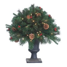 Lighted Potted Round Tapered Topiary in Urn