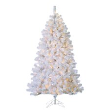 7' White Pine Artificial Christmas Tree with 500 Incandescent Lights