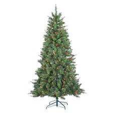 6.5' Green Spruce Artificial Christmas Tree with 400 Incandescent Clear Lights