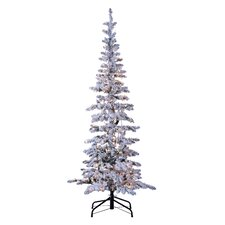 Austin 6.5' White Pine Artificial Christmas Tree with 300 Incandescent Clear Lights