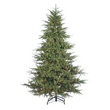 7.5'Green  Fir Artificial Christmas Tree with 900 Incandescent Clear Lights