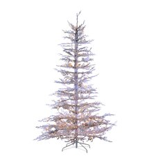 7.5' White Twig Artificial Christmas Tree with 300 Incandescent Clear Lights