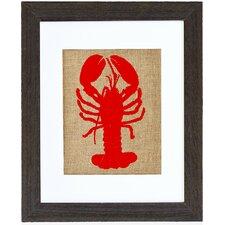 Lobster Framed Graphic Art