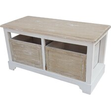 Wood Storage Entryway Bench
