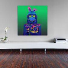 """Beatbox Bunny"" Graphic Art on Canvas"