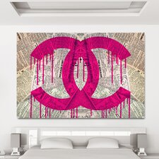 Read It In The News Pink Graphic Art on Canvas