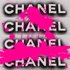Fashion Forward Pink Graphic Art on Canvas