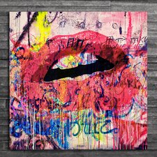 Acrylic Lips Graphic Art on Canvas