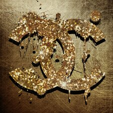 Glitter & Gold Graphic Art on Canvas