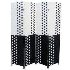 "70.75"" x 70.5"" 4 Panel Room Divider"