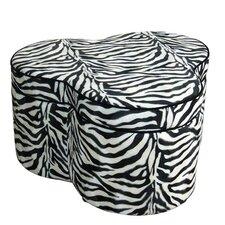 Zebra Storage Ottoman with Seating