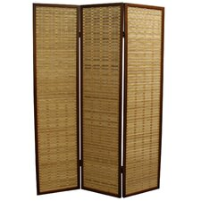 """70.25"""" x 52"""" Bamboo 3 Panel Room Divider"""
