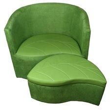 Suede Barrel Chair