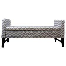 Chevron Upholstered Bedroom Storage Bench