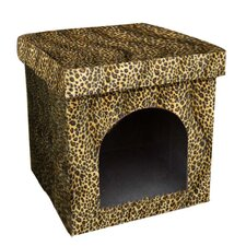 Collapsible Leopard Dog House