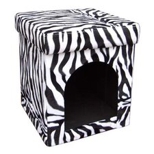 Collapsible Zebra Dog House