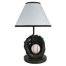 "Baseball 9"" H Table Lamp with Empire Shade"