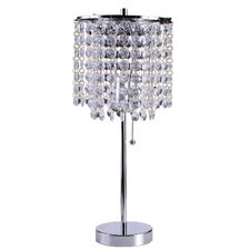 """20.25"""" Decorative Glam Table Lamp with Drum Shade"""