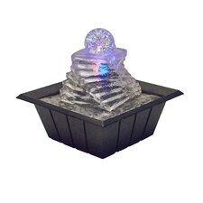 Polyresin Spiral Ice Table Fountain with Light