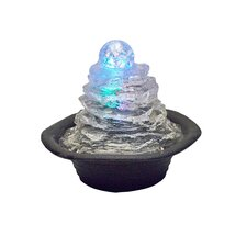 Polyresin Rock Climb Ice Table Fountain with Light