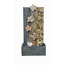Polyresin and Metal Maple Leaf Fountain with Light