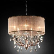 Rosie Crystal 5 Light Ceiling Lamp