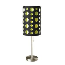 """Retro 33"""" H Table Lamp with Drum Shade"""
