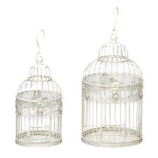 2 Piece Metal Bird Cage Set I