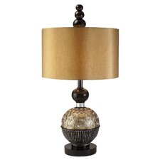 "Amber Twilight 31"" H Table Lamp with Drum Shade"