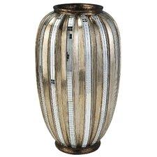 Metallic Tiles Decorative Vase