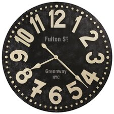 "Oversized 36"" Fulton Street Wall Clock"