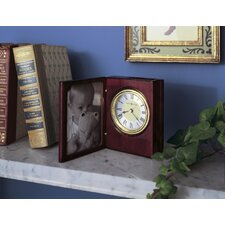 Portrait Book Table Clock