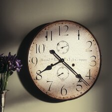 "Moment In Time Oversized  25"" Original Howard Miller V Wall Clock"
