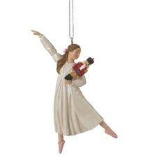 Specialty Clara Holding Nutcracker Ornament