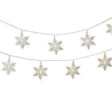 Holiday Shines 10 LED Snowflake String Light