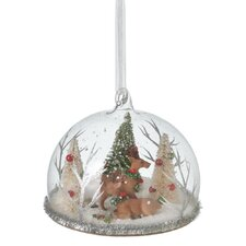 Warm Wishes Reindeer Cloche Ornament