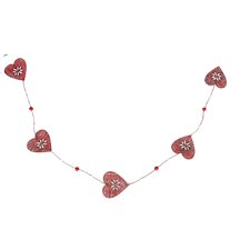 Country Christmas Heart Garland